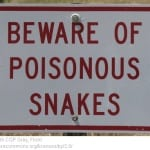 Beware poisonous snakes
