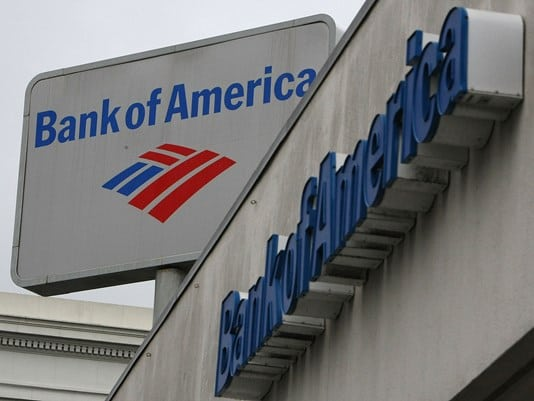 Bank of America holds gun to customers' head